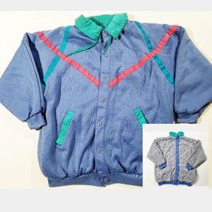 Reversible 80's Unisex Colorblock Vintage Jacket